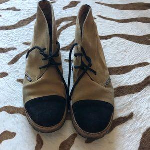 Chanel desert boots